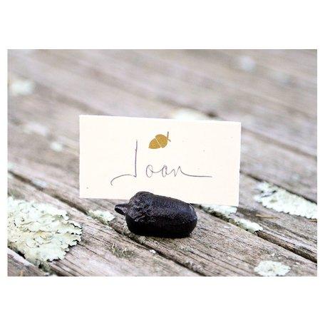 Acorn Cast Iron Place Card Holder