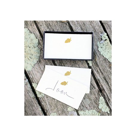 Printed Paper Place Cards w/ Acorn