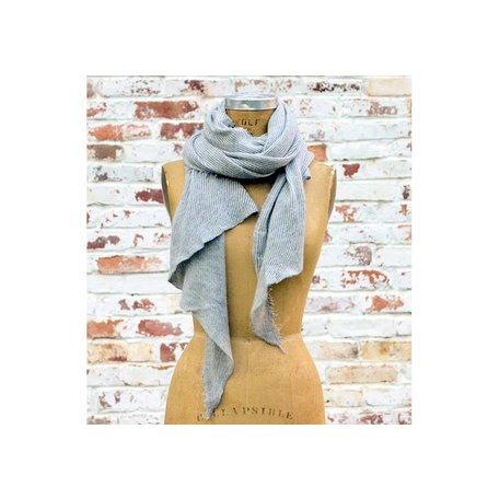 Grisal Love Duo Cahsmere Scarf in Heather Grey and Milk