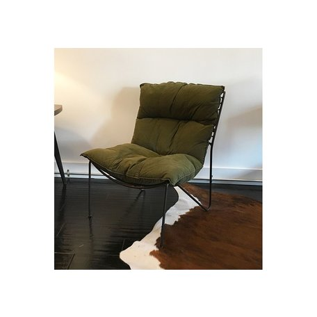 Davis Chair in Vintage Army Fabric