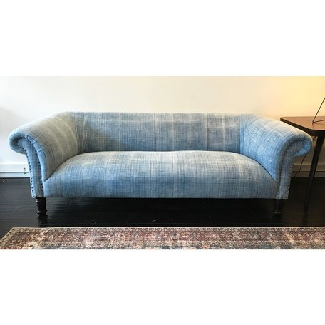 "Springfield 84"" Sofa in One of a Kind Vintage Fabric by Cisco Brothers"