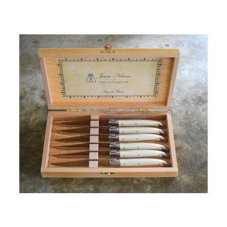 Laguiole Set of Six Ivory Knives in Presentation Box