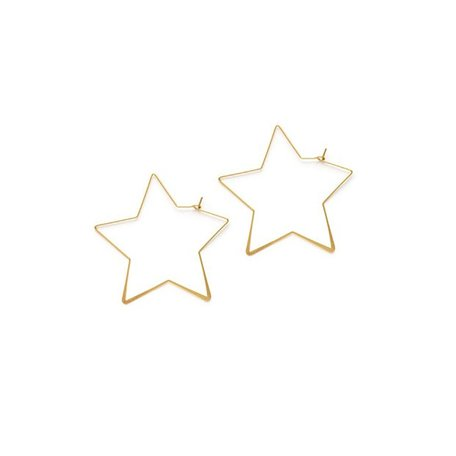 Star Hoops in Gold