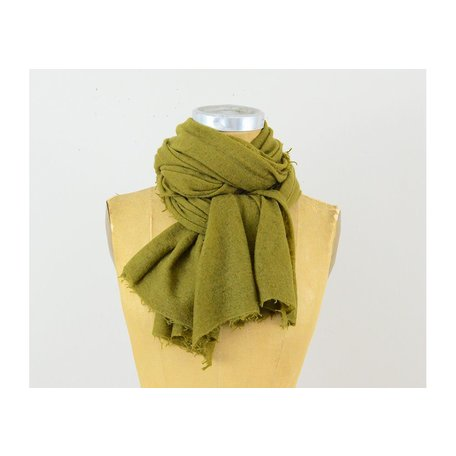 Semi-Felted Cashmere Scarf in Plantation