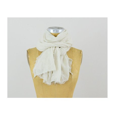 Semi-Felted Cashmere Scarf in Moon Beam