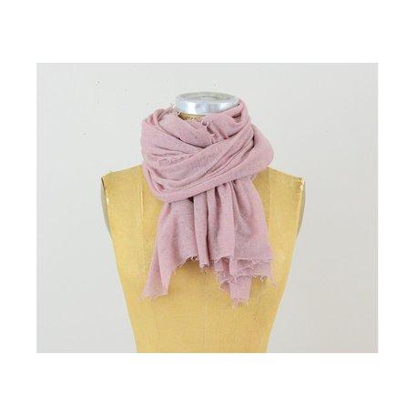 Semi-Felted Cashmere Scarf in Cameo Pink