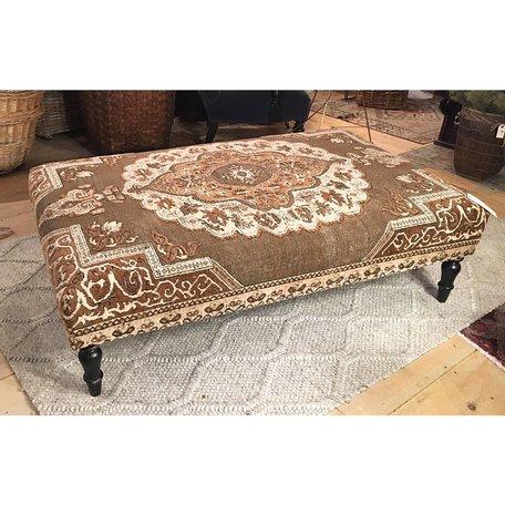 Vintage Rug Ottoman 1018-P