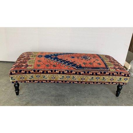 Vintage Rug Ottoman 1018-J
