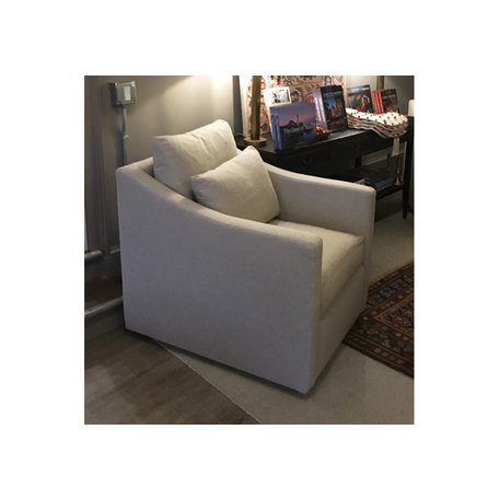Rebecca Swivel Chair Upholstered in Naoki Latte by Cisco Brothers