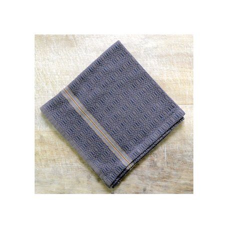 Cotton Boma Dish Towel in Black Sand
