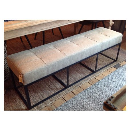 """Cruz 60"""" Bench in Lan Oatmeal by Cisco Brothers"""