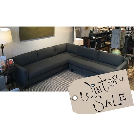 Hunter Sectional w/ Bench Seat in Ridley Charcoal by MGBW