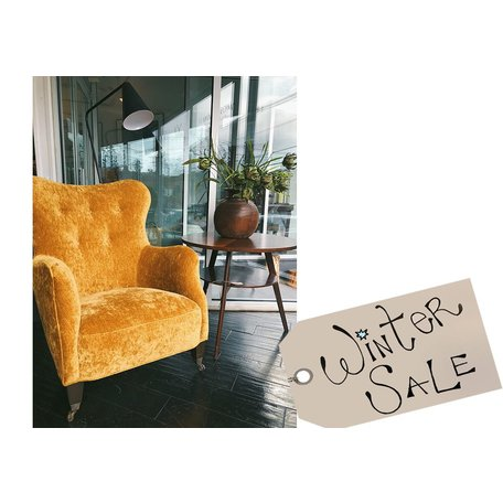 Romi Mini Chair in Velluto Gold by Cisco Brothers *Floor Model Sale*