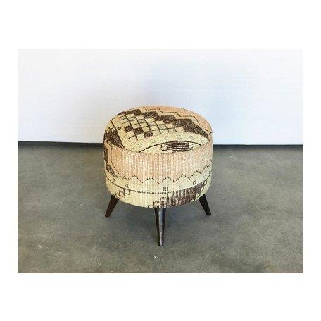 Small Antique Turkish Rug Ottoman 50018-E