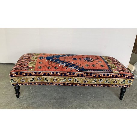 Vintage Rug Ottoman, 1018-J