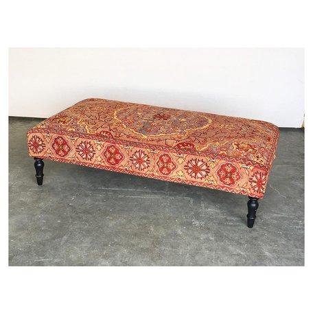 Vintage Rug Ottoman 1018-K