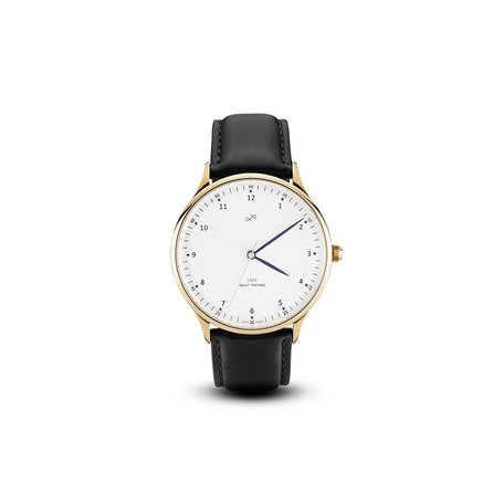 1969 Watch in Gold/White, 39mm by About Vintage