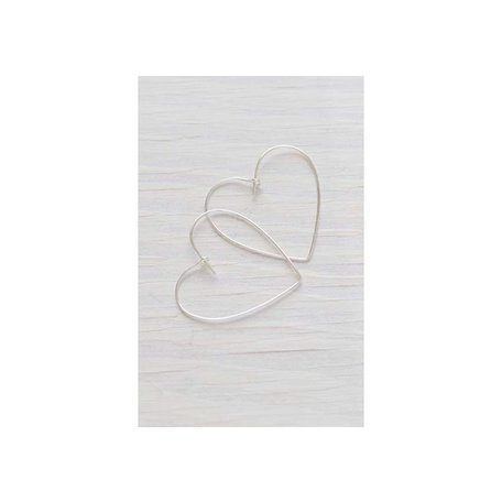 Heart Hoops in Silver