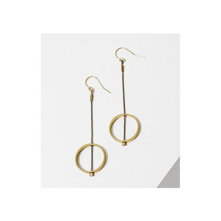 Brass Horizon Earrings