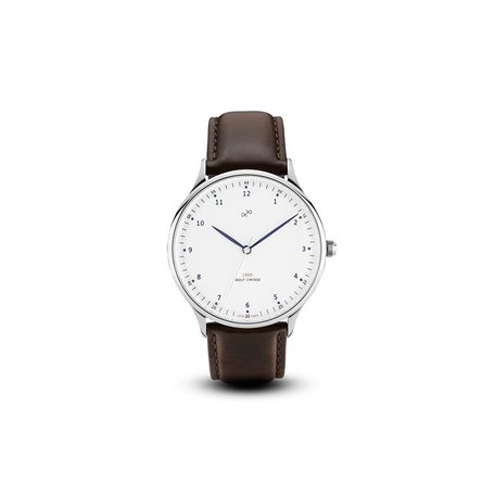 1969 Watch in Steel/White, 36mm by About Vintage