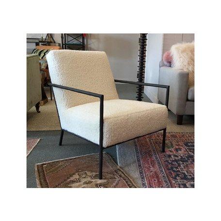 Evans Chair in Sherpa Cloud 1489-01 by Lee Industries