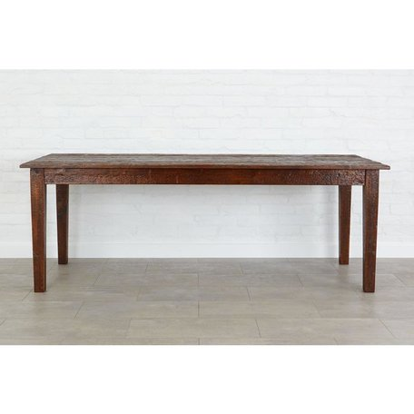 Provence Dining Table in Saddle 84""