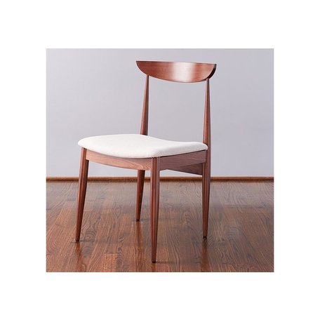 Ellie Dining Chair in Saddle w/ Linen Seat