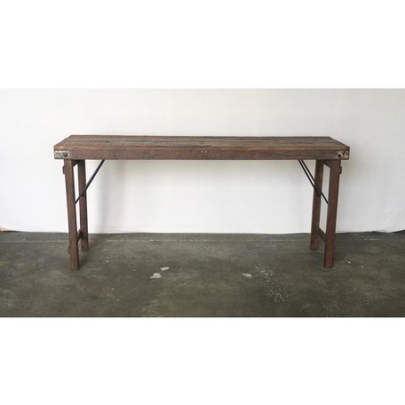 Vintage Wood Wedding Console in Natural