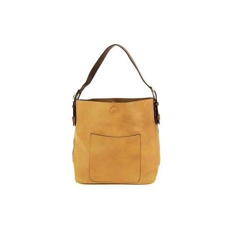 Vegan Leather Hobo Bag in Mustard