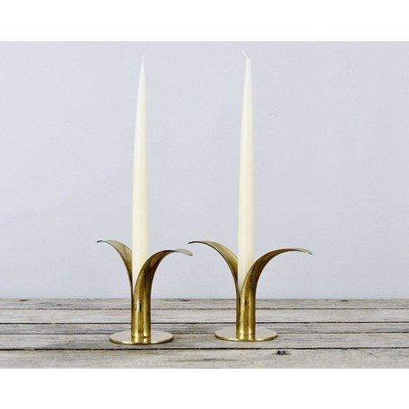 """Vintage Brass """"Lily"""" Candlesticks"""