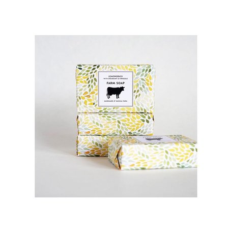 Sawkill Farm Tallow Soap in Lemongrass w/ Spearmint & Firneedle