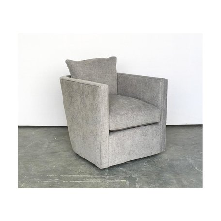 Roth Tailored Swivel Chair in Mink w/ Feather Down Blend
