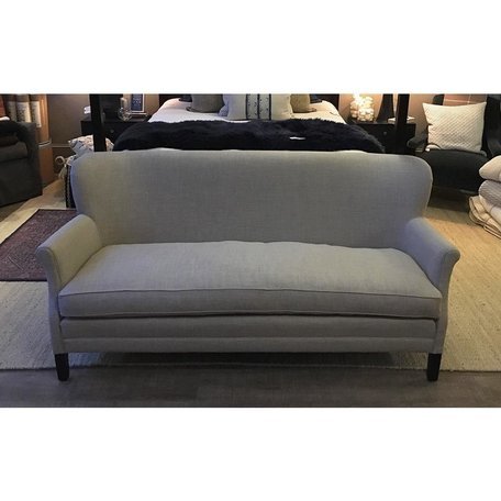 Pippa Apartment Sofa in Farrow Pewter Tack Trim Around Outside Back by Lee Industries