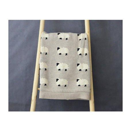 Cotton Knit Sheep Blanket