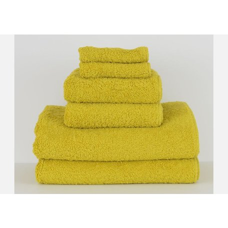 Super Pile Egyptian Cotton Wash Towel in Lemon Curry