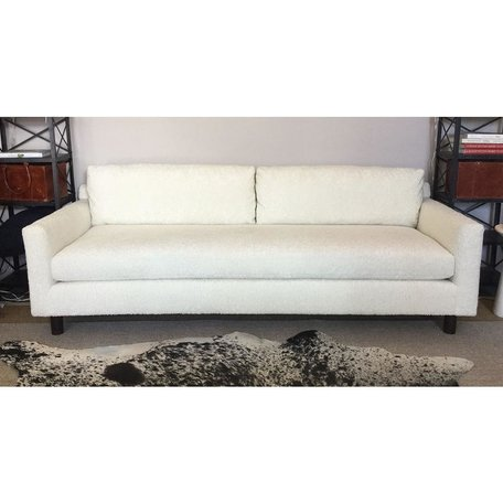 """Hunter 90"""" Sofa in Sherpa Natural w/ Bench Seat by MGBW"""