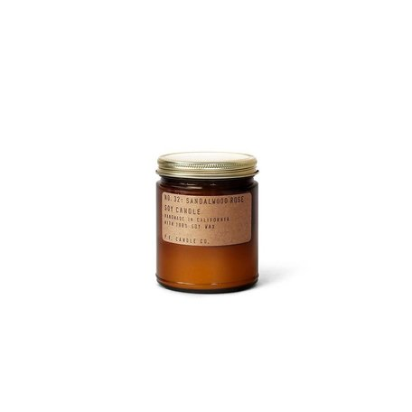 Hand-Crafted Sandalwood Rose Soy Candle, 7.2 oz