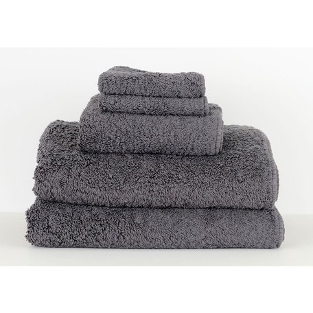 Super Pile Egyptian Cotton Hand Towel in Metal