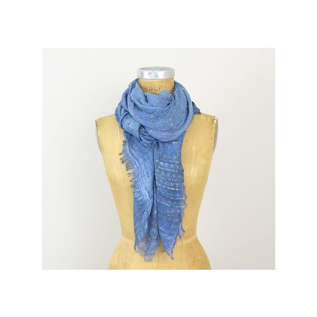Woven Thread Scarf in Blue