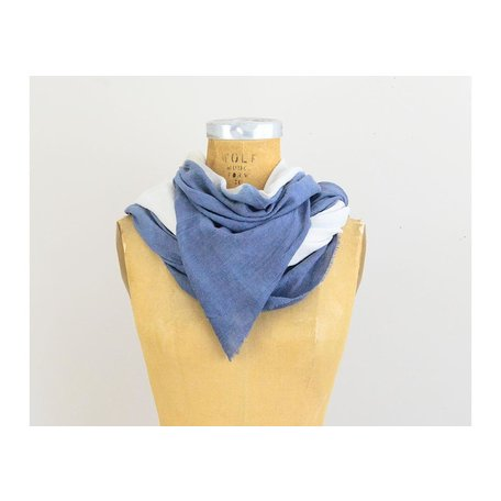 Soft Ombre Scarf in Blue