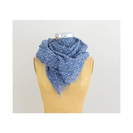Indigo Blue Cotton Scarf