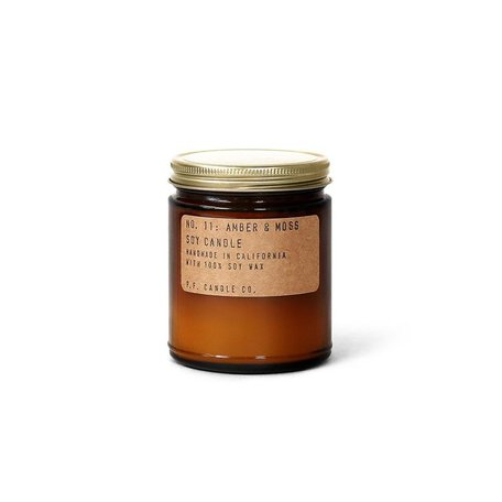 Hand-Crafted Amber & Moss Soy Candle, 7.2 oz