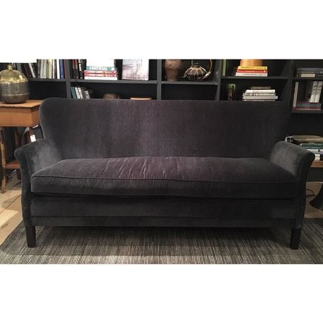 Pippa Apartment Sofa in Everest Peppercorn w/ Tack Trim Around Outside Back by Lee Industries