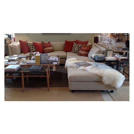 Franco Sectional w/ Ottoman and Eco Down Blend in Sweet Grass Ecru by MGBW