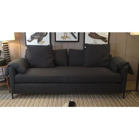 "Radley 90"" Sofa in Blake Slate w/ Bench Seat and Feather Cloud Cushions by Cisco Brothers"
