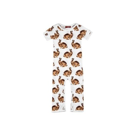 Organic Cotton Romper, Bunny 6-12M