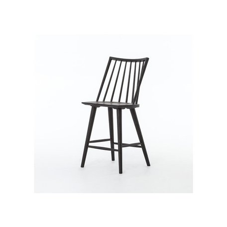 Lewis Oak Counter Stool in Black Oak