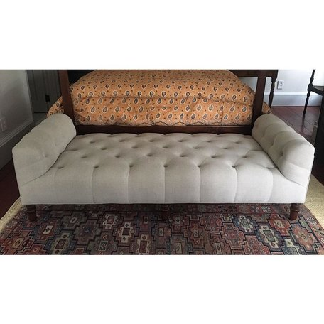 """John Derian 72"""" Field Bench in Vintage Flax by Cisco Brothers"""