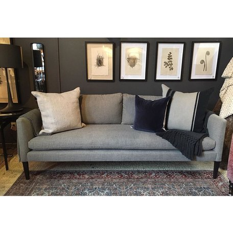 Laura Upholstered Sofa in Crypton Pendleton Slate by Lee Industries