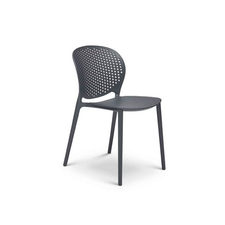 Bailey Polypropylene Side Chair in Black/Grey